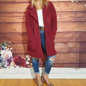 Ashley by 26 International Red Teddy Coat